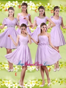 Discount A Line Lavender Bridesmaid Dresses with Beading