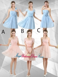 Beautiful Hand Made Flowers Bridesmaid Dresses with Mini Length