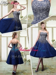 Luxurious Sweetheart Beading Bridesmaid Dresses for 2016