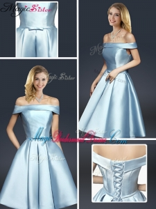 2016 Fall A Line Knee Length Bridesmaid Dresses with Ruching