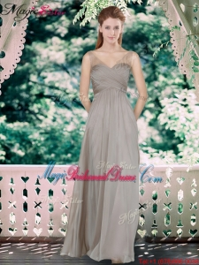 Fall Beautiful Sweetheart Bridesmaid Dresses with Hand Made Flowers