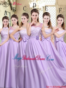 Hot Sale Empire Lavender 2016 Bridesmaid Dresses