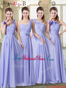 2016 Pretty Empire Floor Length Bridesmaid Dresses in Lavender