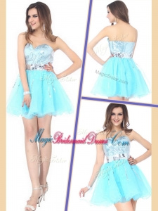 2016 Beautiful Short Sweetheart Sequins Bridesmaid Dresses for Cocktail