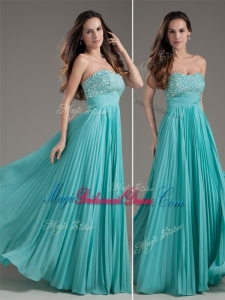 2016 Classical Empire Strapless Turquoise Long Amazing Bridesmaid Dresses
