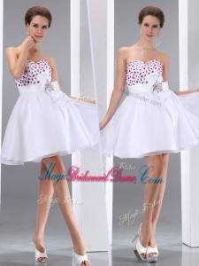 New Style Sweetheart Beading Beautiful Bridesmaid Dresses in White