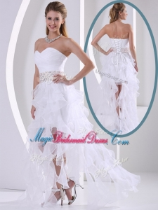 New Arrivals Sweetheart Asymmetrical Beading Perfect Bridesmaid Dresses with Cocktail