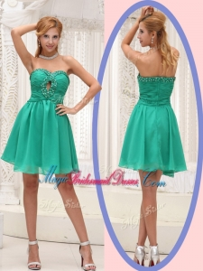Perfect Sweetheart Beading Short Trendy Bridesmaid Dresses for 2016