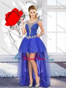Exclusive High Low Bridesmaid Dresses with Beading for Graduation