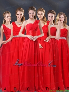 Ruching Empire 2015 Feminine Bridesmaid Dresses