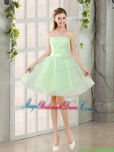 The Most Popular Strapless A Line Bridesmaid Dress with Lace Up
