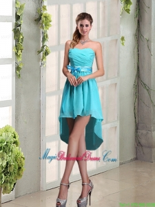2015 Decent Sweetheart A Line Bridesmaid Dress with Ruching and Belt