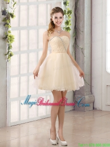 2015 Sturning Sweetheart A Line Bridesmaid Dress with Beading