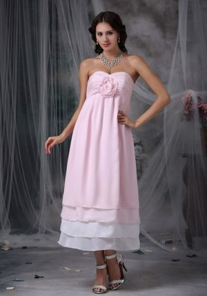 Sweetheart Maternity Bridesmaid Dress in Ankle-length with Layers in Juneau AK