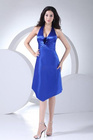 Karlskoga Sweden Most Sexy Royal Blue Column Taffeta Bridesmaid Dress