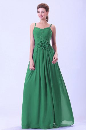 Custom Made Green Bridemaid Dress with Spaghetti Straps in Danderyd Sweden