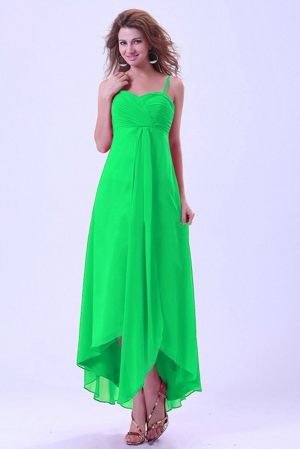 Impressive Chiffon Bright Green Bridemaid Dress in Honolulu United States