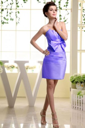 Exquisite Lilac Strapless Bridemaid Dress with Bow in Ottawa United States