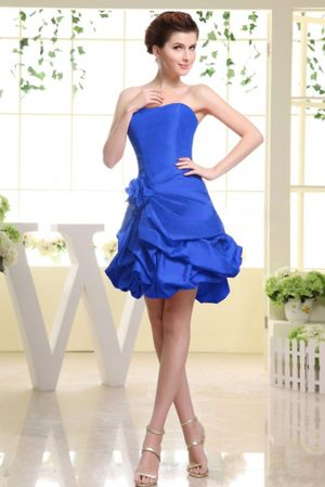 Royal Blue with Flower and Pick-ups Accent Dress for Bridesmaids in Hluhluwe