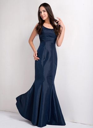 2013 Mermaid Style for Navy Blue Scoop Bridesmaids Dresses in Franschhoek