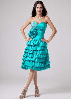 Luxurious Dresses for Bridesmaid in Vryheid Ruffled Layers and Flower Accent