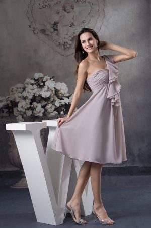 Gray One Shoulder Ankle-length Ruffle Layers for Bridesmaids Dresses in Pinetown