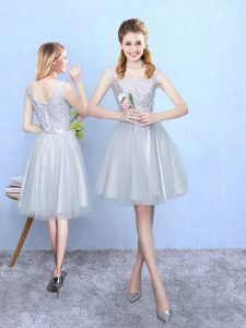 Sleeveless Lace Lace Up Bridesmaid Dresses
