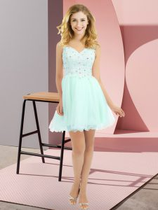 On Sale Sleeveless Side Zipper Beading and Lace Bridesmaid Dress