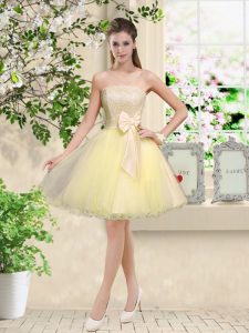 Free and Easy Off The Shoulder Sleeveless Organza Wedding Party Dress Lace and Belt Lace Up