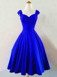 Great Sleeveless Ruching Lace Up Bridesmaid Gown