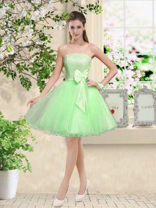 Glamorous Off The Shoulder Sleeveless Lace Up Bridesmaid Gown Organza
