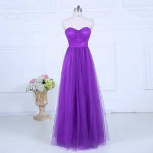 Great Eggplant Purple Empire Ruching Wedding Guest Dresses Zipper Tulle Sleeveless Floor Length