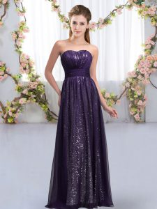 Ideal Sweetheart Sleeveless Chiffon and Sequined Wedding Guest Dresses Sequins Lace Up