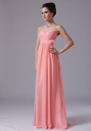 Sweetheart for 2013 Watermelon Red Ruched Bridesmaids Dresses in Meyerton