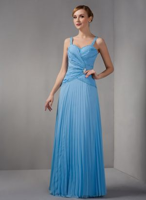 Teal Column Straps Chiffon Bridesmaid Dresses in Graskop Appliques Decorate