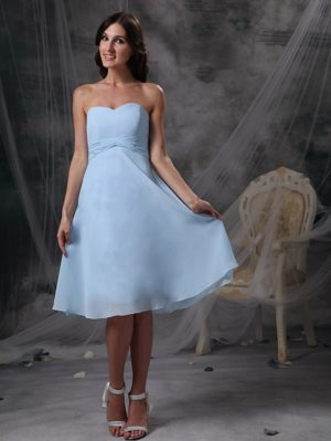 Custom Made Baby Blue Sweetheart Ruched Bridesmaid Dresses in Brakpan