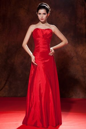 Sweetheart Red Empire Bridesmaid Dresses in Ballito with Ruche Decorate