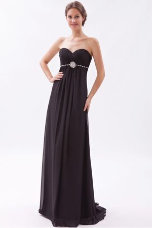 Black Empire Sweetheart Beading Brushed Bridesmaid Dresses in Invercargill