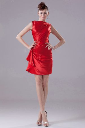 Red Bateau Neck Ruches Bridesmaid Dress in Isando South Africa