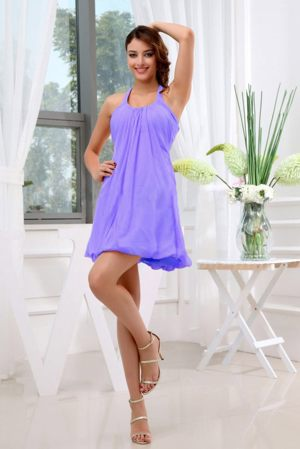 Ruches A-Line Halter Lilac Bridesmaid Dress in Kroonstad South Africa