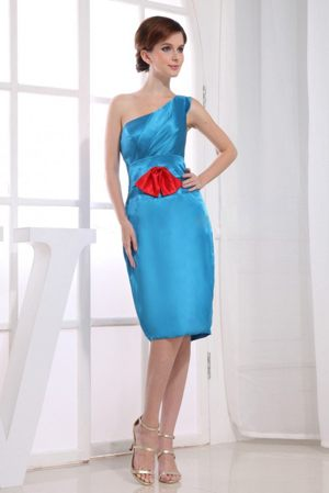 Jacobs South Africa One Shoulder Column Bridesmaid Dress in Teal