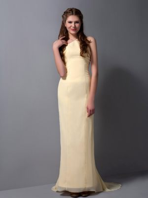 Light Yellow Column Halter Bridesmaid Dress in Tokai South Africa