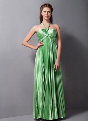 Spring Green Halter Pleat Bridesmaid Dress in Silverton South Africa