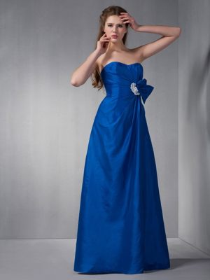 Royal Blue Sweetheart Appliques Bridesmaid Dress in Reims France