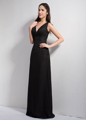 Black V-neck Chiffon Bridesmaid Dress in Worcester South Africa
