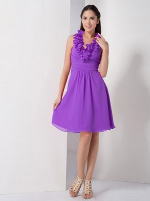 Purple A-line Halter Ruches Bridesmaid Dress in Wynberg South Africa