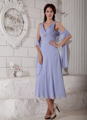 Lilac V-neck Ruches and Beading Bridesmaid Dress in Bonn Germany
