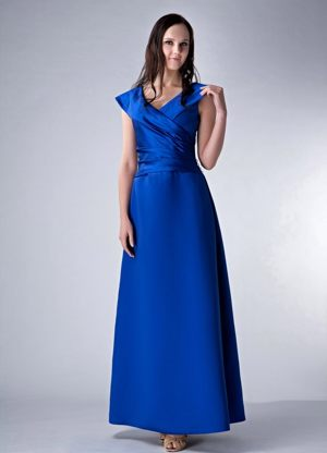 Royal Blue V-neck Ruches Bridesmaid Dress in Vryheid South Africa