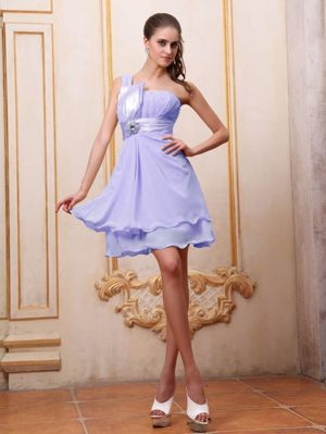 Margate South Africa One Shoulder Lilac Beading Bridesmaid Dress