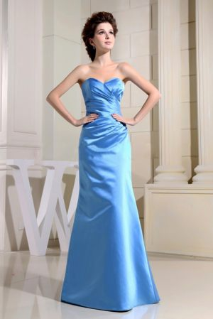 Blue Sweetheart Ruches Bridesmaid Dress in Florida South Africa